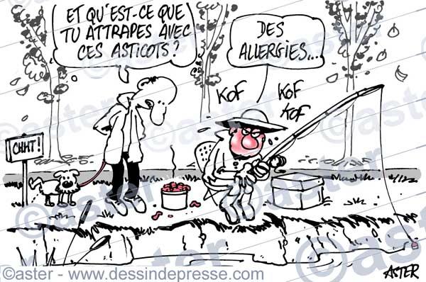 Allergie et asticots